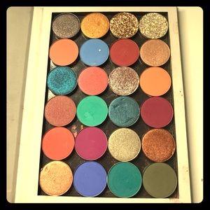 Colourpop eyeshadow singles + palette